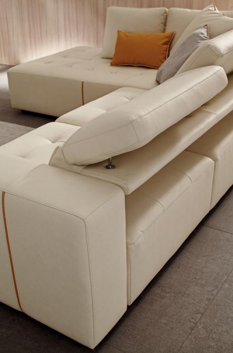 Canapele modulare cu tetiere si sezut extensibil LAURENCE 6