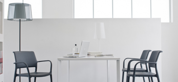 Lampa de podea cu abajur din policarbonat L001ST/BA [7]