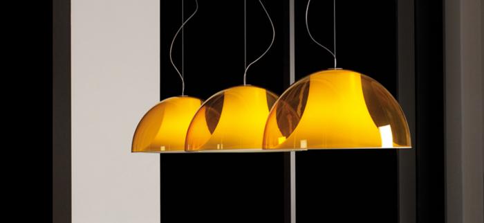 Lampa suspendata cu abajur din policarbonat L002S/BA 13