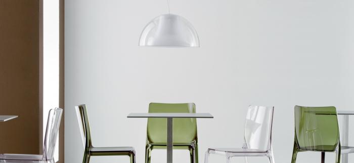 Lampa suspendata cu abajur din policarbonat L002S/BA 15