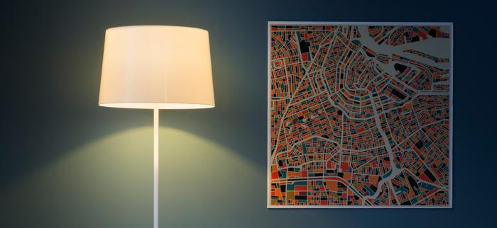 Lampa de podea cu abajur din policarbonat L001ST/BA [9]