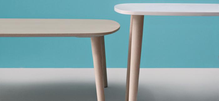 Mese fixe picioare lemn frasin design scandinav MALMO TMLF 1
