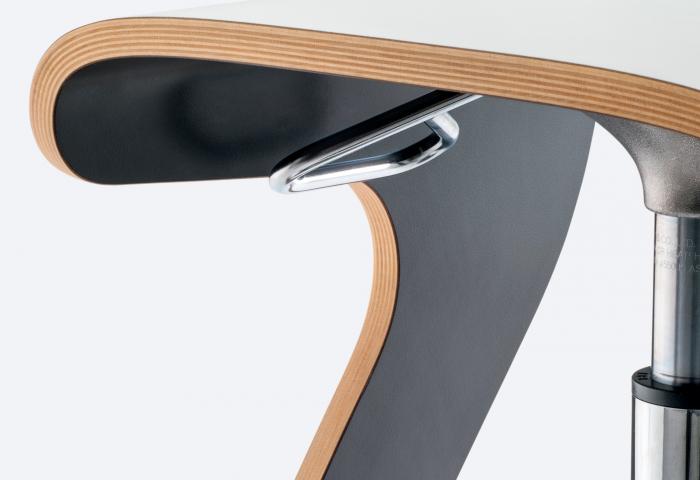Scaune bar moderne ajustabile structura metal sezut lemn WOODY 495 1