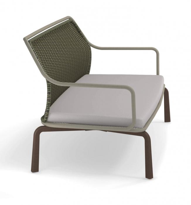 Canapele exterior 2 locuri cadru metal cu perna tapitata CROSS 3