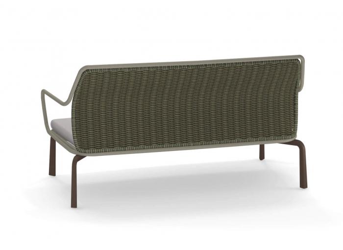 Canapele exterior 2 locuri cadru metal cu perna tapitata CROSS 1