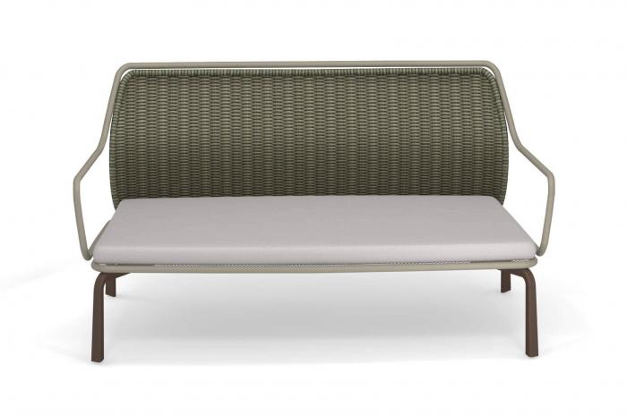 Canapele exterior 2 locuri cadru metal cu perna tapitata CROSS 2