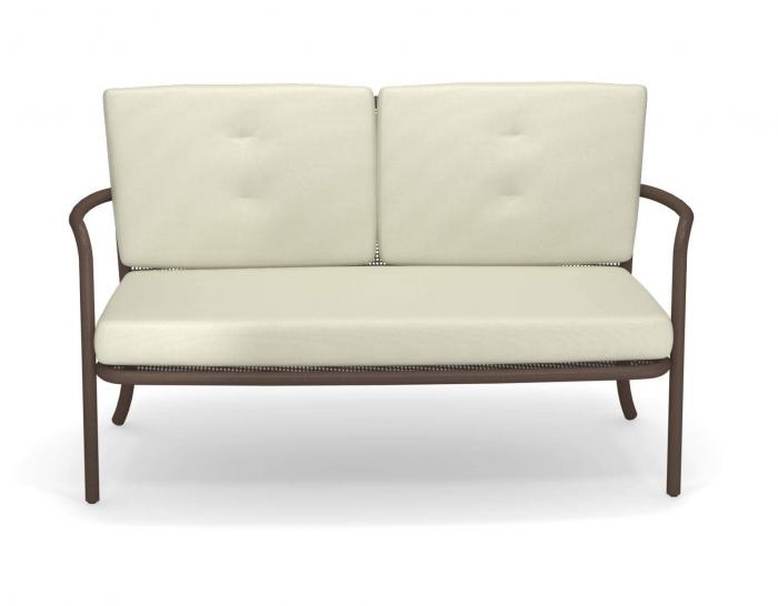 Canapele exterior 2 locuri cadru metal cu perne tapitate ATHENA 2