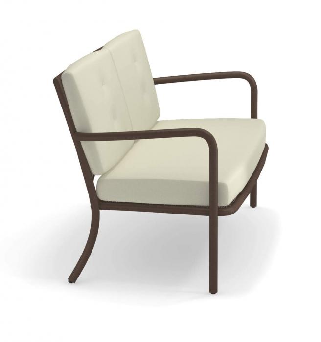 Canapele exterior 2 locuri cadru metal cu perne tapitate ATHENA 3
