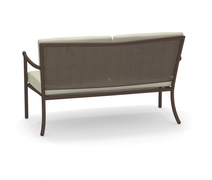 Canapele exterior 2 locuri cadru metal cu perne tapitate ATHENA 1