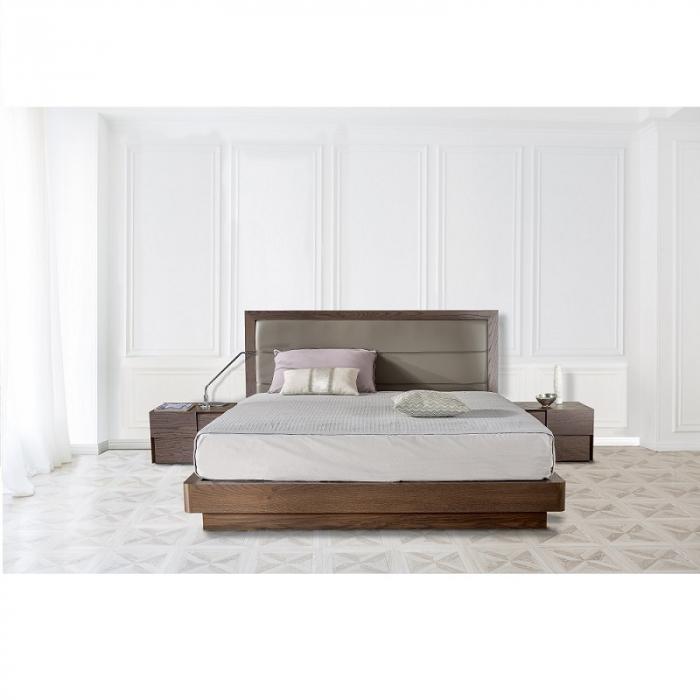 Pat lemn cu tablie tapitata GIO BED [0]