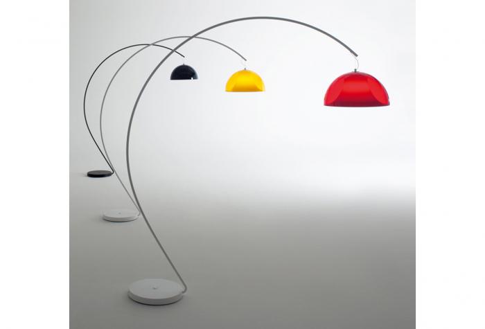 Lampa de podea cu picior arc si abajur din policarbonat L002T/BA [0]