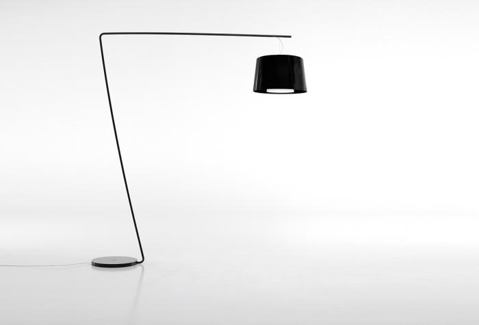 Lampa de podea cu picior si abajur din policarbonat L001T/BA [0]