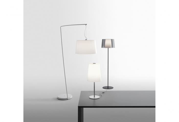 Lampa de podea cu picior si abajur din policarbonat L001T/BA [3]