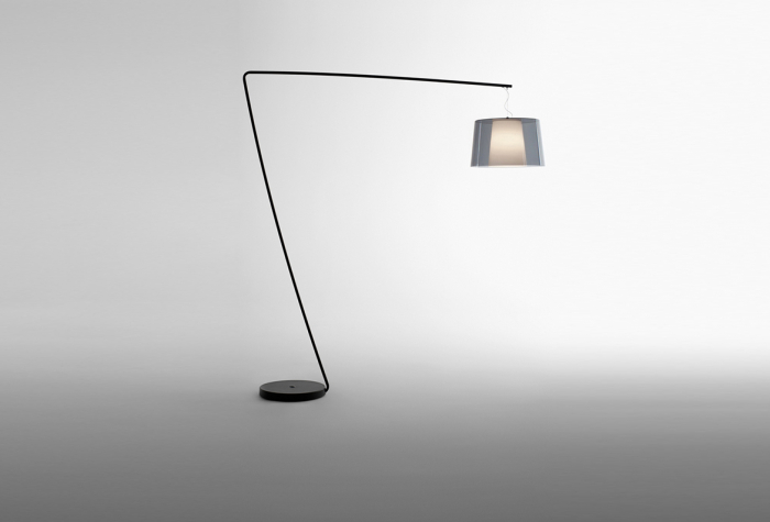 Lampa de podea cu picior si abajur din policarbonat L001T/BA [1]