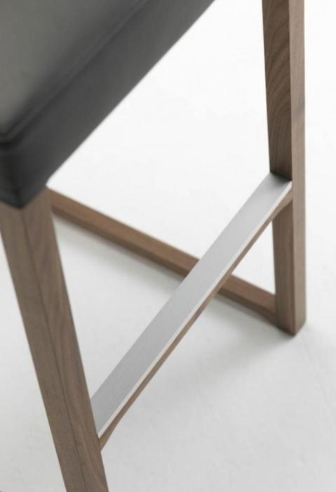 Scaun bar tapitat structura lemn fag Linea 1001 SG 4