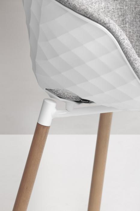 Scaune moderne scoica tapitata picioare lemn UNI-KA601M 1