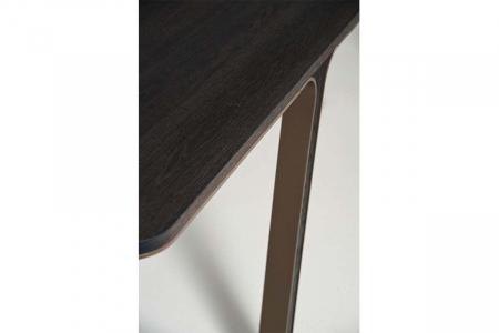 Mese din lemn blat subtire detalii metalice MOBIUS 0014