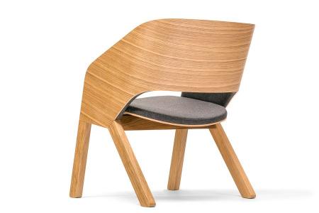 Fotolii lounge din lemn tapitate MERANO [3]