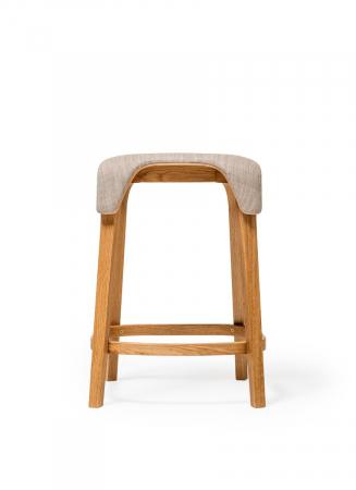 Scaune de bar structura lemn tapitate LEAF1