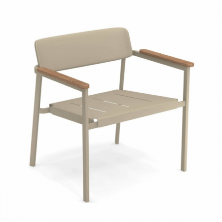 Fotolii lounge exterior metalice cu insertii lemn SHINE0