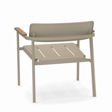 Fotolii lounge exterior metalice cu insertii lemn SHINE2