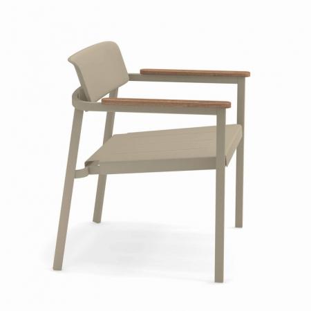 Fotolii lounge exterior metalice cu insertii lemn SHINE3