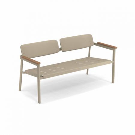 Canapele exterior 2 locuri metalice cu insertii lemn SHINE0