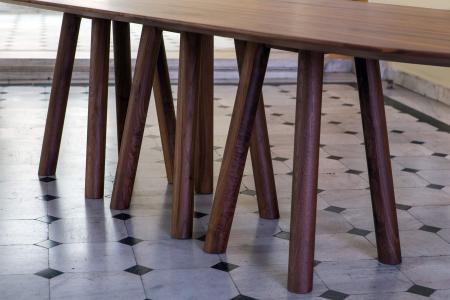 Mese lemn baza cu 12 picioare MOS-I-KO 001 F1