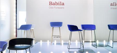 Scaune bar cadru lemn scoica plastic BABILA 27583