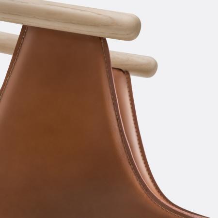 Scaune lemn tapitate piele FOX 37272