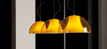 Lampa suspendata cu abajur din policarbonat L002S/BA13