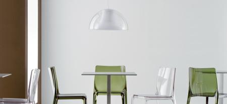 Lampa suspendata cu abajur din policarbonat L002S/BA15