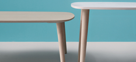 Mese fixe picioare lemn frasin design scandinav MALMO TMLF1