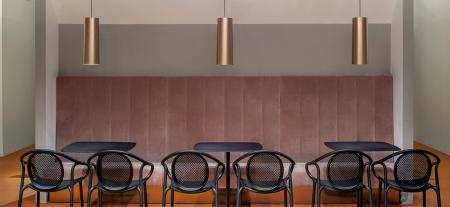 Lampa suspendata cu abajur din policarbonat L006SW/B0