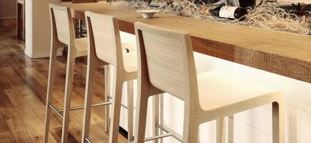 Scaune de bar cadru lemn stejar YOUNG 4263