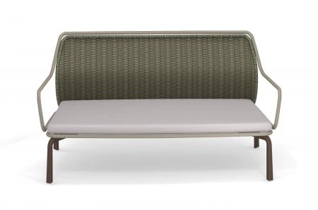 Canapele exterior 2 locuri cadru metal cu perna tapitata CROSS2