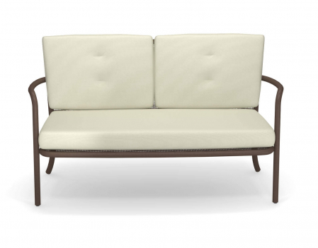 Canapele exterior 2 locuri cadru metal cu perne tapitate ATHENA2