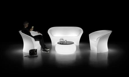 Canapele de exterior luminoase din plastic OHLA [1]