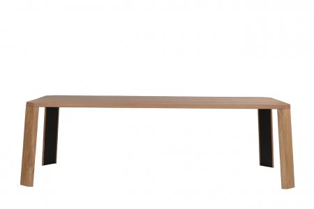 Mese din lemn detaliu metalic O-RIZON 0010