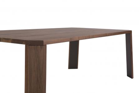 Mese din lemn detaliu metalic O-RIZON 0012