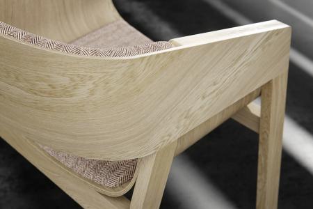 Fotolii lemn sezut si spatar tapitate MERANO [5]