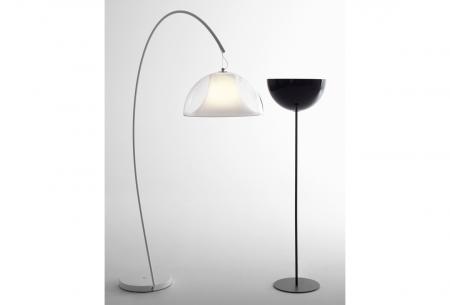 Lampa de podea cu picior arc si abajur din policarbonat L002T/BA [1]