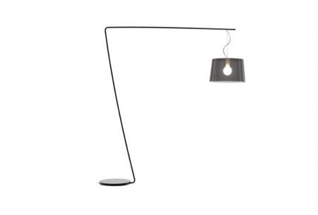 Lampa de podea cu picior si abajur din policarbonat L001T/B0