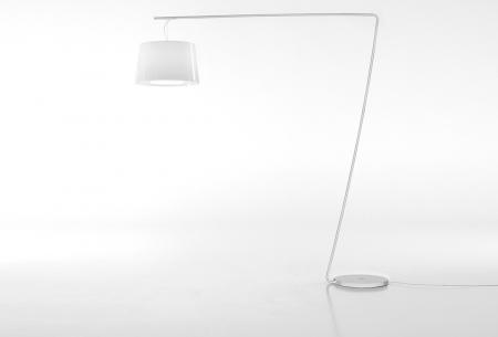Lampa de podea cu picior si abajur din policarbonat L001T/BA [2]