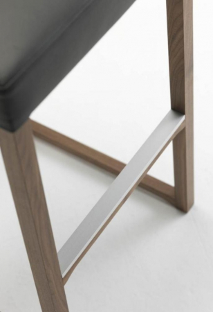 Scaun bar tapitat structura lemn fag Linea 1001 SG4