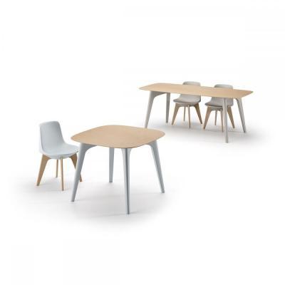 Masa cu blat HPL/lemn si patru picioare din plastic PLANET TABLE [2]