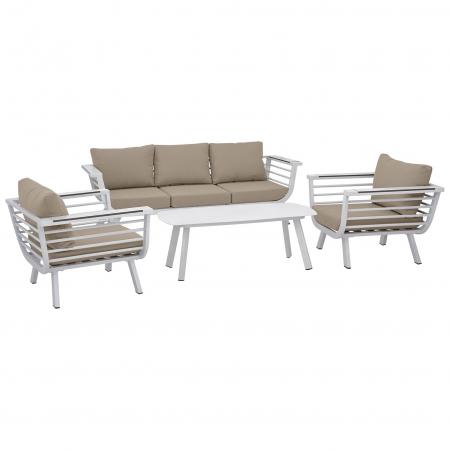 Set terasa outdoor canapea fotolii si masa structura aluminiu SET1632 [0]