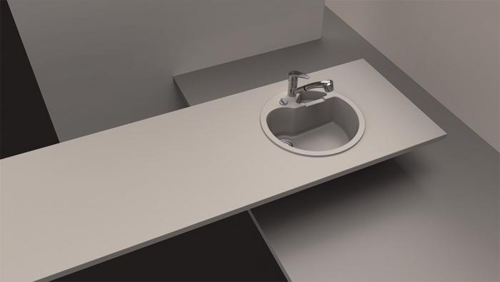 Chiuveta Granit Schock Classic R-100 Nero Cristalite 510 x 510 mm cu Sifon Automat [1]