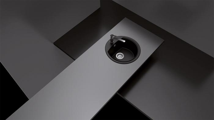 Chiuveta Granit Schock Manhattan R-100 Nero Cristalite 470 x 490 mm [3]