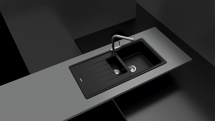 Chiuveta Granit Schock Element D-150 Nero Cristalite 1000 x 500 mm [2]